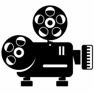 Vintage movie camera silhoutte